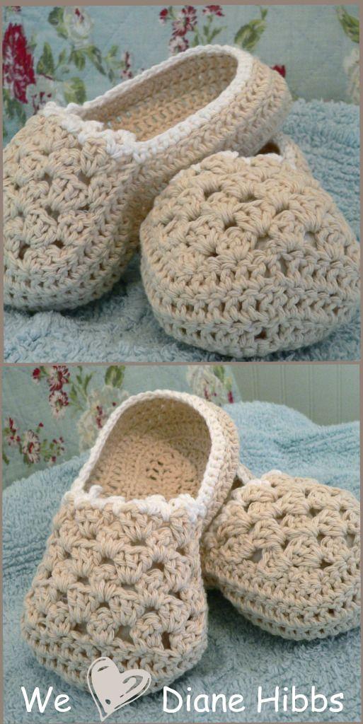 Free Crochet Slipper Patterns . More slippers at http://allcrafts.net/crochet/crochetslippers.htm