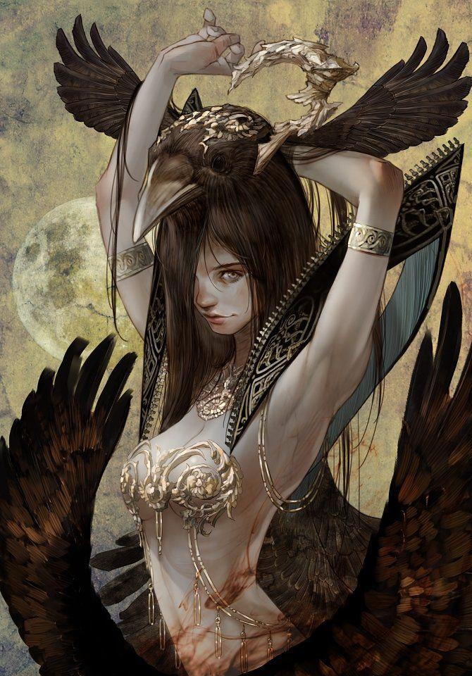 Crow Queen, Kyoung Hwan Kim on ArtStation at https://www.artstation.com/artwork/crow-queen-beb1289c-d79d-43a0-8461-04ff8f0ece1b