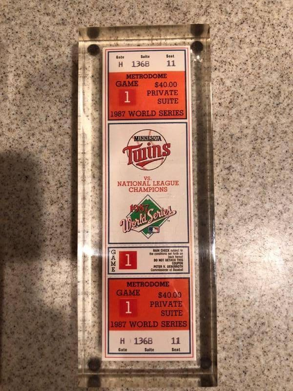Excited to share the latest addition to my #etsy shop: Minnasota Twins 1987 World Series Game 1 Unused Ticket L@@K!! #vintage #minnasotatwins #worldseries #1987worldseries #game1 #baseballworldseries #collectible #sportsmemoribilia #etageinc #worldseries http://etsy.me/2BKsmce