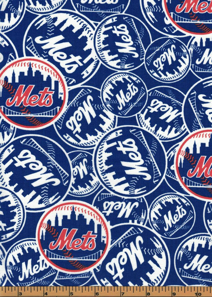 New York Mets MLB Baseball Fabric 100 CottonSold by