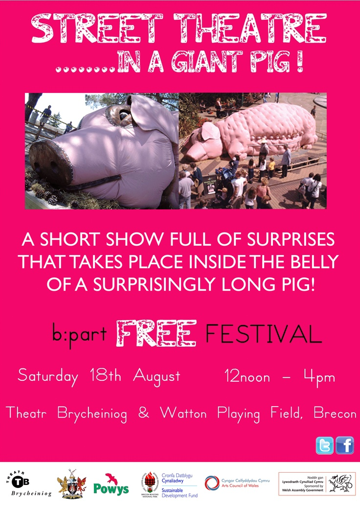 STREET THEATRE.......IN A GIANT PIG!