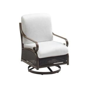 Martha Stewart Living Cedar Island All Weather Wicker Patio Motion Chair  With Bare Cushions $189