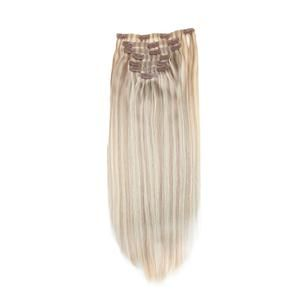 120g PU Clip In Remy Human Hair Extension Blonde #18 Mixed with Blonde #613(#P18/613