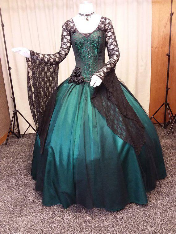 Gothic Wedding Dress Steampunk Gown Victorian Corset Victorian