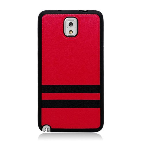 EGC Samsung Galaxy Note 3 Leather IMD Case - Red/Black
