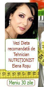 Dieta recomandata de nutritionist