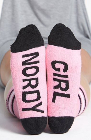 Are you a NORDY GIRL??? Then love these socks > Arthur George by R. Kardashian 'Nordy Girl' Socks @nordstrom