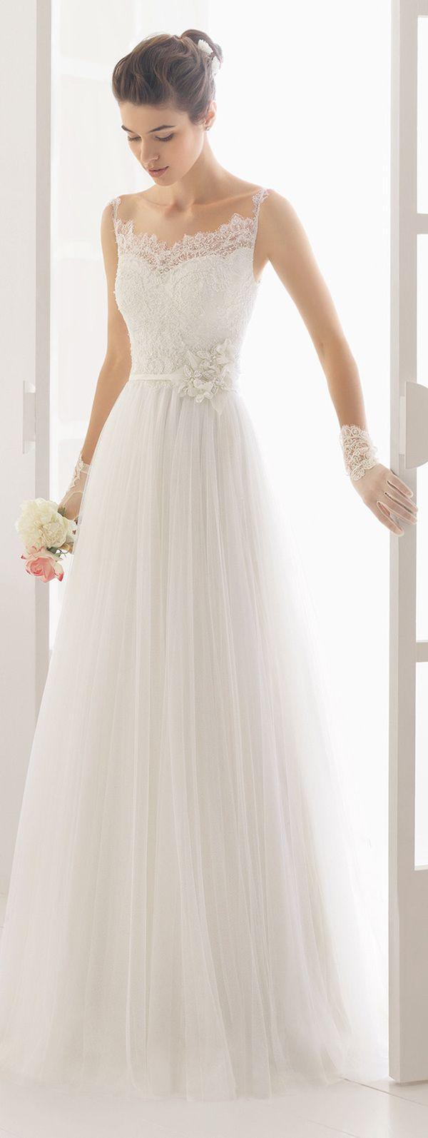 Aire Barcelona charm lace wedding dresses 2016 with thin straps  #vestidodenovia | #trajesdenovio | vestidos de novia para gorditas | vestidos de novia cortos  http://amzn.to/29aGZWo