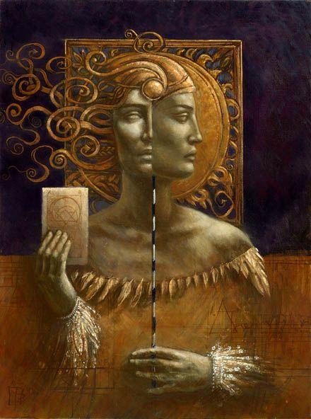 """Jake Baddeley                                               """"Sun & Moon""""                                                      Oil on canvas, 2004."""