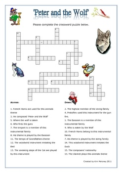 Peter And The Wolf Worksheet - Worksheet