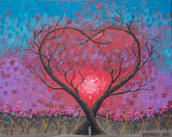 Love Trees by CreativeStroke on Etsy, $275.00