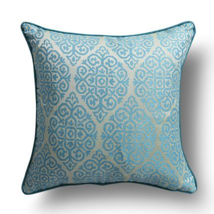 S9home by Seasons Contemporary Cushion Cover With Piping Blue,Single Cushion Cover