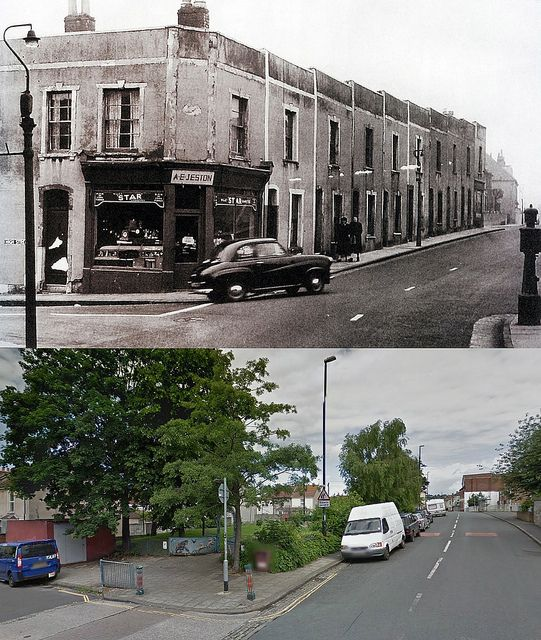 Bristol Then & Now - Belle Vue Road, Greenbank   by brizzle born and bred