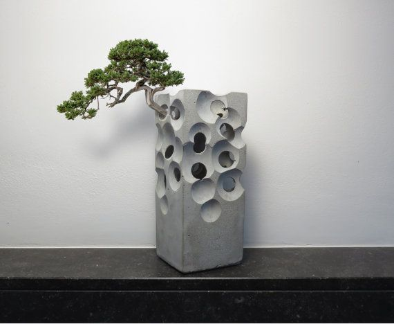 alien concrete vase by ArtAlbertM on Etsy