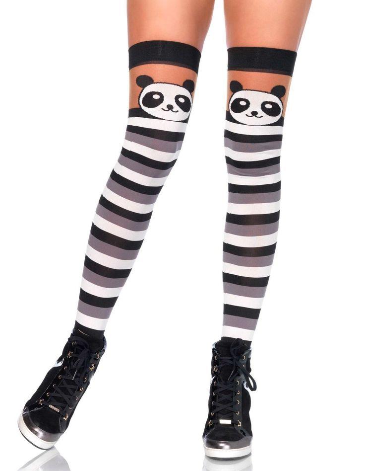 Medias a Rayas Oso Panda #panda #kawaii