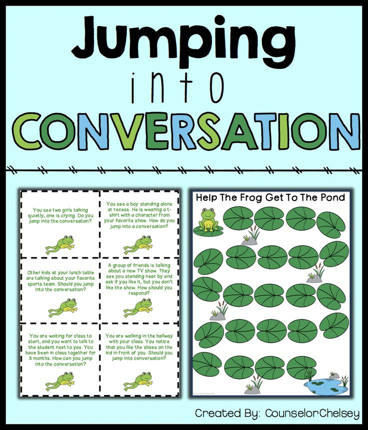 This game helps students learn the social skill of starting a conversation. Role play prompts are focused on helping kids learn when and how to start conversations!