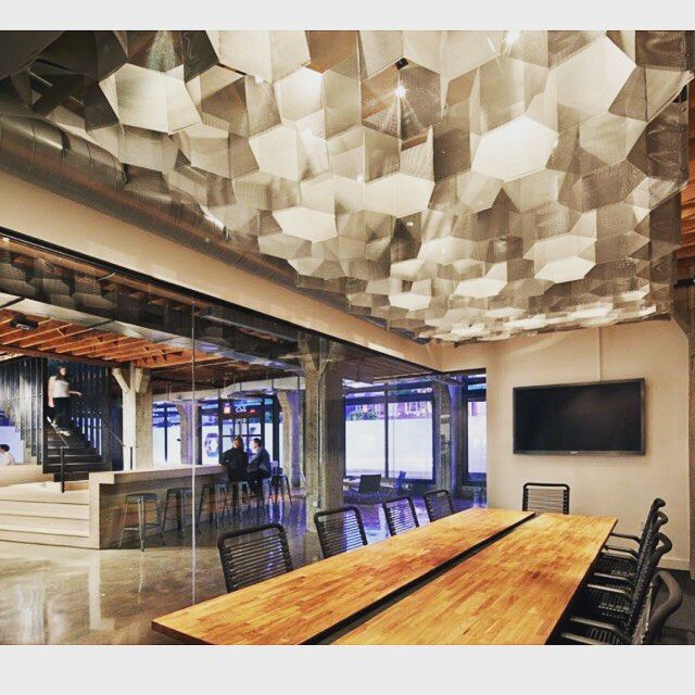 #FitoutFriday Checkout that lighting! This is the warehouse to office conversion of Heavybit Industries in San Francisco.