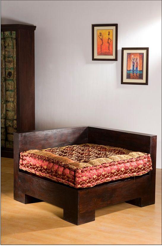 Home Furnishing :: Seating / Sofas :: Modular Sofa Corner - Monsooncraft Indian Bedding Store - Shop Velvet Cushions - Silk Bolsters Pillow Covers & Shawls