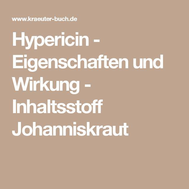 Hypericin - Eigenschaften und Wirkung - Inhaltsstoff Johanniskraut