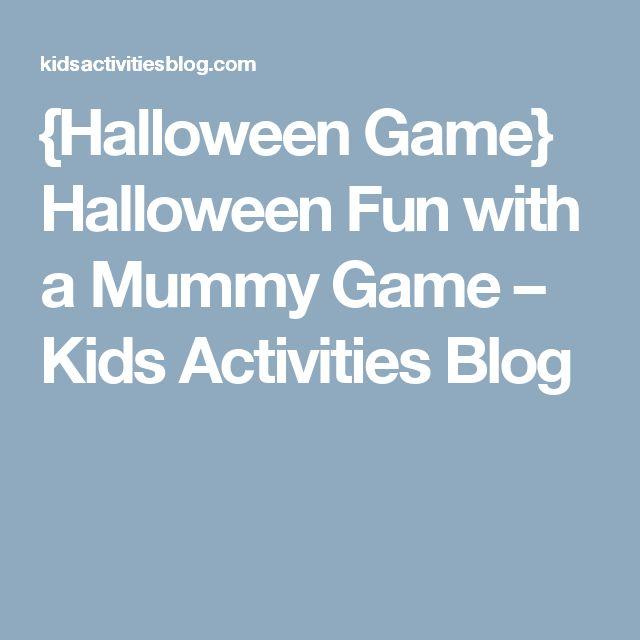 {Halloween Game} Halloween Fun with a Mummy Game – Kids Activities Blog