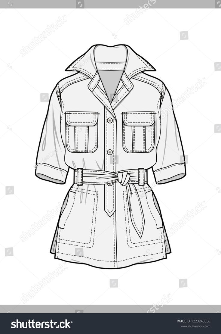 OUTER Fashion technical drawings flat Sketches vector template