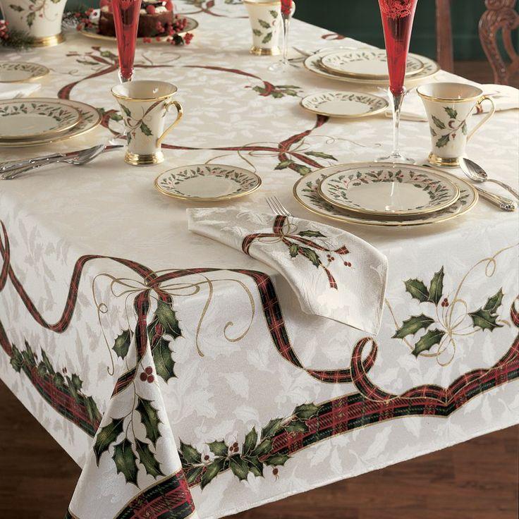 Beautiful Lenox Tablecloths Holiday Nouveau