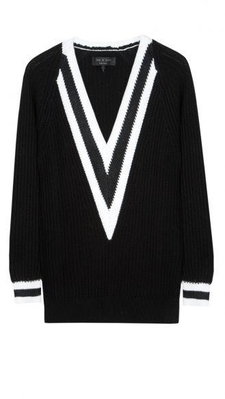 @Raquel Gomez & bone talia v neck   #pullover #ragandbone #black