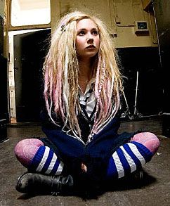 Juno Temple in St. Trinians. Love the hair.