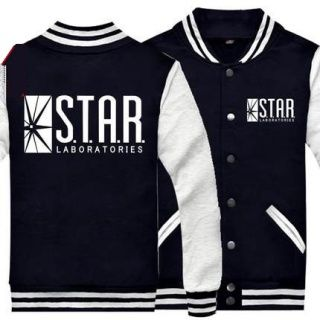 Plus size The flash baseball jackets star labs sweatshirt
