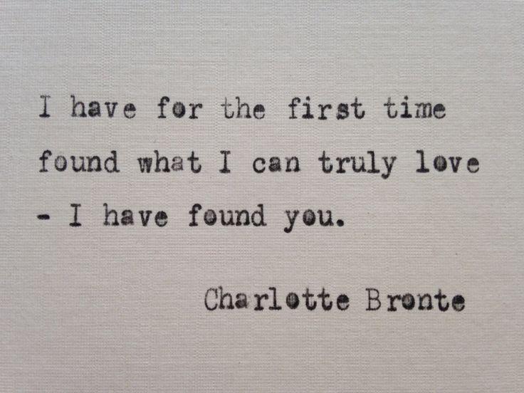 Charlotte Bronte quote hand typed on antique typewriter