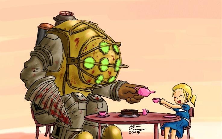 Cute Little Girl Wallpaper Hd Bioshock Fan Art Video Games Big Daddy Bioshock Fan