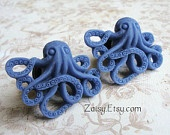 Octopus Plugs for Gauged Ears Sizes 00g, 0G, 2G, 4G , 6G, 4mm, 5mm, 6mm, 8mm, 10mm, Also Available for Pierced Ears. $19.99, via Etsy.