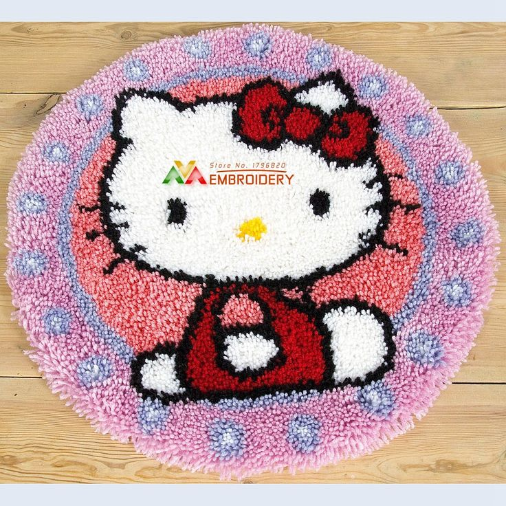 Find More Cushion Information about Hot 3D Latch Hook Rug Kits DIY Needlework Unfinished Crocheting Rug Yarn Cushion Mat Happy Cat Embroidery Carpet Rug Home Decor,High Quality Cushion from DIY embroidery store on Aliexpress.com