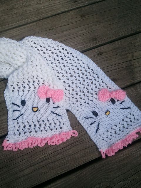 Ravelry: My Hello Kitty Scarf pattern by Jennifer Brooks Rice