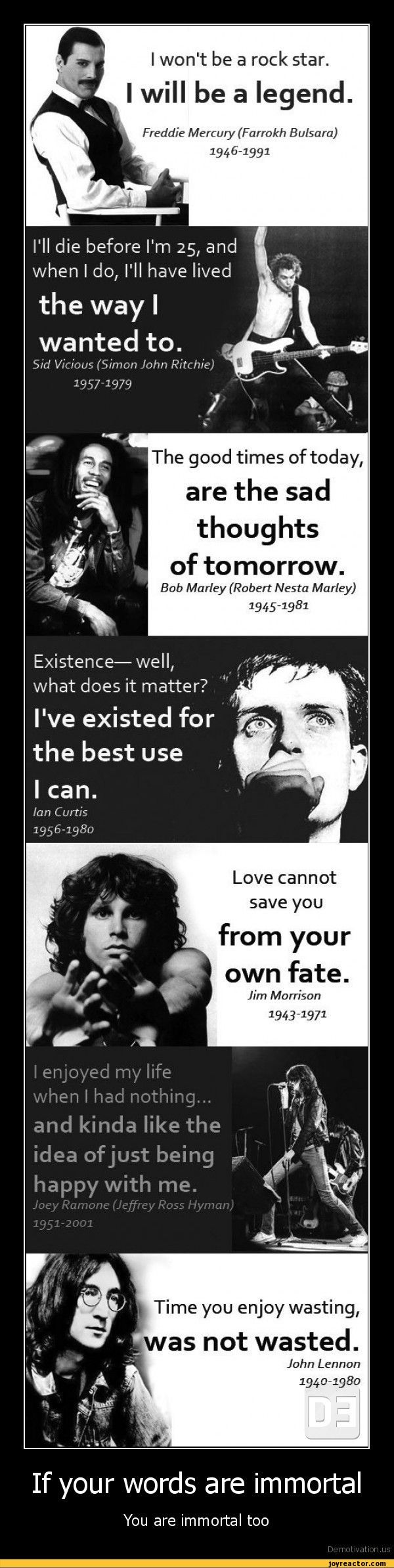Inspiration from rock and roll legends