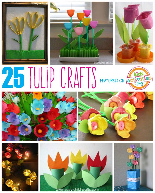 #Manualidades de tulipanes vía @4kidsactivities // 25 Tulip Crafts for Kids