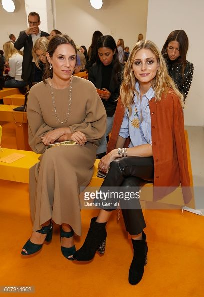 Olivia Palermo and Tatiana Santo Domingo attends the Emilia Wickstead show during London Fashion Week Spring/Summer collections 2016/2017 on...