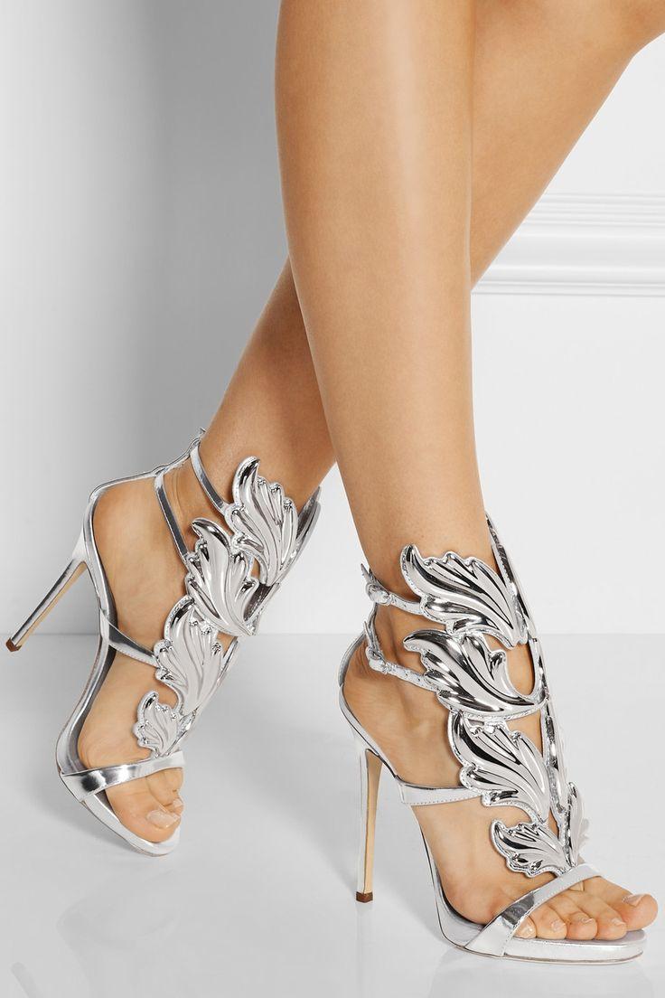 Giuseppe Zanotti|Embellished patent-leather sandals|NET-A-PORTER