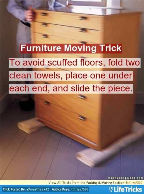 Packing Moving   Furniture Moving Trick