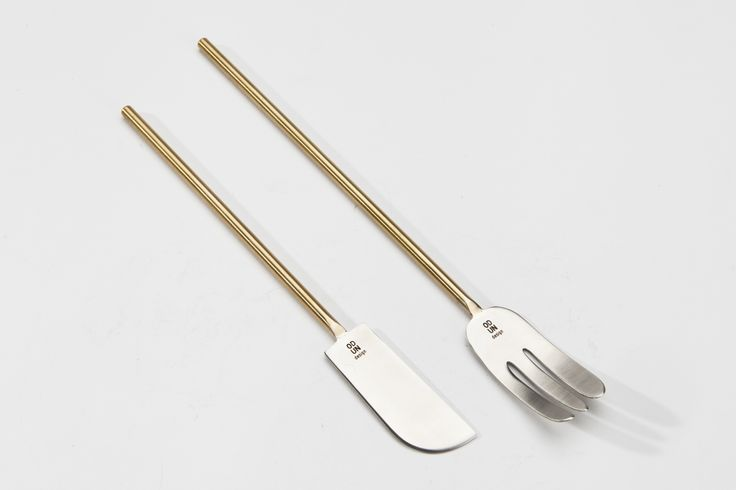 ODUN design Knives and Forks, in İKSV Shop and ARCHİVE Galata. Hand Made, Stainless Steel, Brass. www.odundesign.com