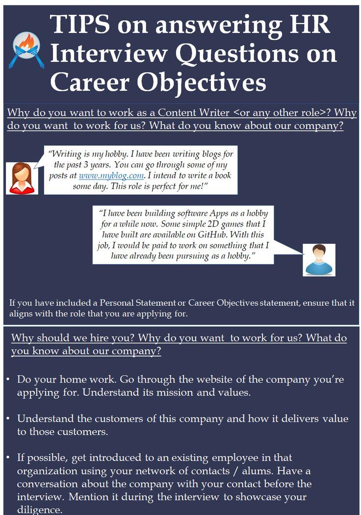 career objective hr