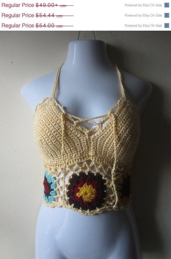 Festival halter top crochet halter top crochet by Elegantcrochets, $44.10