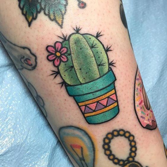 small cactus tattoo estilopropriobysir @sicaramos