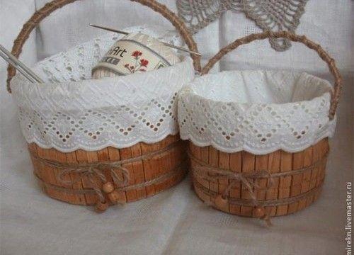 Confira como fazer uma tina de madeira usando um balde e prendedores de roupa