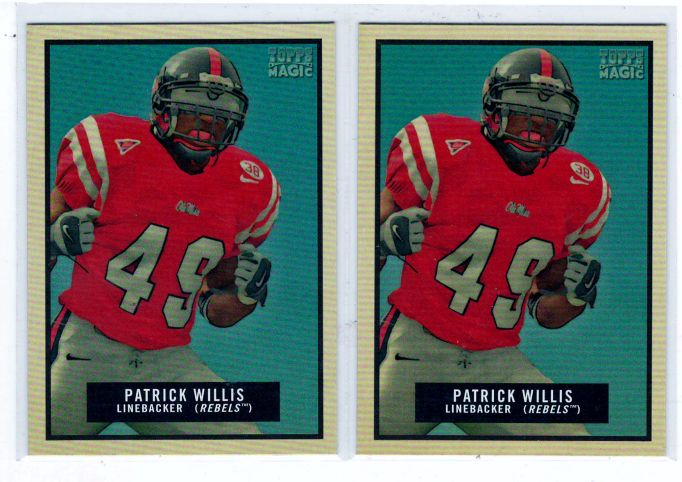 Sports Cards Football – 2009 Topps Magic Mini Patrick Willis – Mississippi College 4 Card Lot – Free Shipping