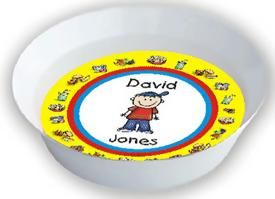 Design Your Own Personalized Melamine Bowl with Food Border (Choice of head & body) :: For That Occasion