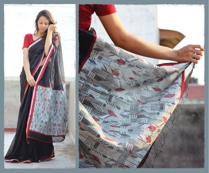 ATHANGUDI - contemporary saris in organic cotton by Tanvi Kareer at Coroflot.com