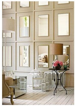 DIY-A New Take on the Mirror Wall ! Stunning !