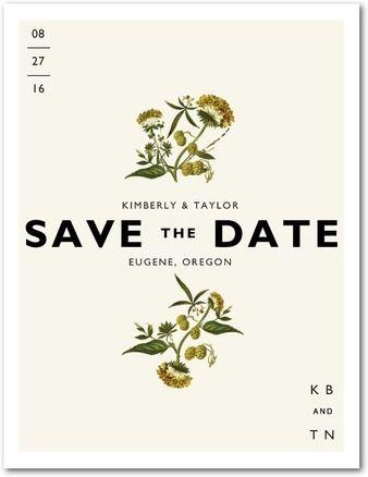 Botanical Beauty - Save the Date Postcards - Tallu-lah - Linen - Neutral : Front
