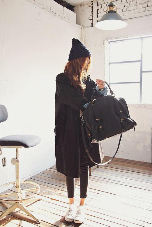 all black #koreanstyle #koreanfashion #ulzzang